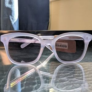 MADEWELL Venice Flat Frame Sunglasses Lilac